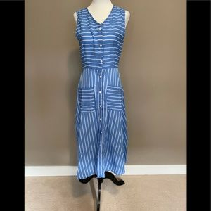 Shein Small Nautical Blue and White Summer Dress